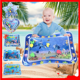 Wholesale Tummy Time Infant Play Mats Baby Toys Playmats Floodable & Inflatable Patted Pads Summer Cool Water Cushion