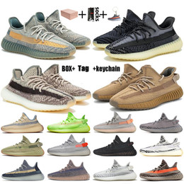 Wholesale stock tops for sale - Group buy With Box Top Quality Stock x Kanye West Running Shoes Size Fade Ash Blue Israfil Asriel Cinder Black Reflective Trainers Sneakers