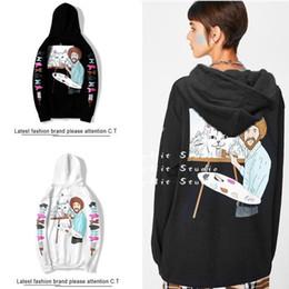Wholesale ripndip hoodies online – oversize Autumn and winter ripndip men and women hip hop street middle finger cheap cat plus velvet long sleeved couple hoodies