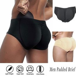Wholesale men s seamless underwear for sale - Group buy Men s Padded Bum Underwear Seamless Butt Lifter Hip Enhancer Shaper Briefs Shaperwear Hip Enhancer Underwear for Men Plus S XL