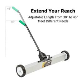 Опт 24-дюймовая магнитная подсветка пола Rolling Pick Rolling Push Broom