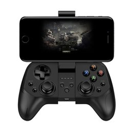 Discount android phone game controllers Wireless Joystick Gamepad Game Controller Bluetooth BT4.0 Joystick For Mobile Phone Tablet TV Box Holder for Android PC