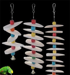 Parrot Special Purpose Cuttlefish Bones Mouth Calcium Supplement String Bird Toys Pets Products Supplies High Quality 13 5sz M2 on Sale