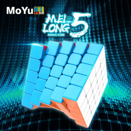 Wholesale Moyu Meilong 5x5x5 cubing Speed Magic Puzzle Strickerless 4x4x4 Neo Cubo Magico 59mm Mini Size Frosted Surface Toys for Children