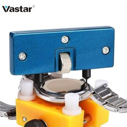 Discount watch battery repair kit Vastar Watch Tools Adjustable Watch Case Opener Repair Tool Kits For Opener Cover Battery Remover Two Feet Opening Screw
