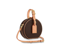 Wholesale beaded trims for sale - Group buy 2020 M43514 PETITE BOITE CHAPEAU BOITE MM PM Handbag purse original cowhide trim canvas hatbox designer shoulder bags crossbody messenger