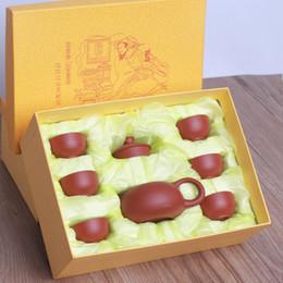 Ingrosso Set da tè cinese Kung Fu 1 teiera 6 tavole da tè cinese Kong Fu Teaware con scatola imballaggio KKA8301
