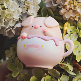 Wholesale Cute pig toy authentic Piko Pig dessert series blind box cute kid doll car decoration birthday gift LJ201031