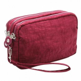 Lady Phone Wallet Package 3 Layers Handbag Cross Section Clutch Bag Large Capacity Valentines Gift i7U0#