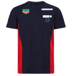 F1 T-shirt de terno de corridas de mangas curtas, uniforme da equipe do estilo da equipe, secagem rápida e t-shirt curto respirável personalizado em Promoção
