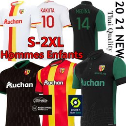 lentes de kit venda por atacado-RC Lente Sainte Barbe Futebol Jerseys Kakuta Ganago Sotoca Muinga Medina Bade RC Lente Maillot de Foot Men Kits Kids Futebol Uniforme