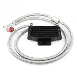 Wholesale 1Set Durable 85ml Oil Cooler Engine Oil Cooling Radiator System Kit for GY6 100CC-150CC Easy Installing Motor Accessories1