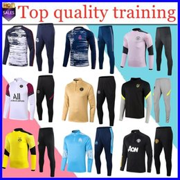 20 21 New Marseille Football Training Tracksuit Tuta Real Madrid Soccer Training Suit 2020 2021 Men Mbappe Survedeement de Foot Chandal Jogging in Offerta