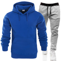 Wholesale womens sweats pants resale online - Hot sale sweatsuits Tracksuit Men hoodies pants Mens Clothing Sweatshirt Pullover womens Casual Tennis Sport Tracksuit Sweat Suit