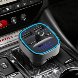 FM Transmitter in-Car Wireless Radio Transmitters Adapter Music Player Car Kit 2 USB Ports Hands Free Calling T25 on Sale