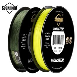 Discount monster braid SeaKnight Monster S9 300M Braided Fishing Lines 9 Strands Multifilament PE Yellow Green 30LB 40LB 50LB 80LB 100LB 201124