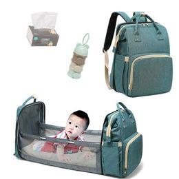 Mommy Bag berço para o bebê cama dobrável mochila Recém-nascido viagem interior infantil Mochila respirável Dormir Basket em Promoção