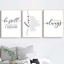 christian home decor wall art UK - Paintings Christian Bible Verse Quote Posters And Prints Black White Wall Pictures Scripture Christ Art Canvas Painting Home Decor