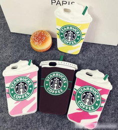 3D Fashion Starbucks Coffee Cup Simulation Soft Gel Rubber Silicone Case Cover For iPhone 4 5 5S 6 7 Plus iPhone7
