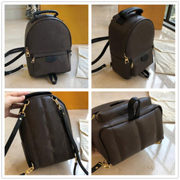 Wholesale spring phones for sale - Group buy Womens Mini PALM SPRING CrossBody Backpacks Leather Trim Strap Satchel Shoulder Bag Purse Printing Cross Body M44873