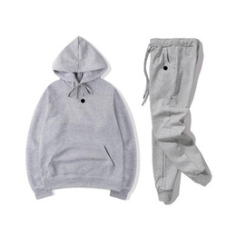 Wholesale mens sweat suits resale online - Men set sweatsuit Tracksuit Men Womens hoodies pants Mens Clothing Sweatshirt Pullover Casual Tennis Sport basketball Sweat Suits