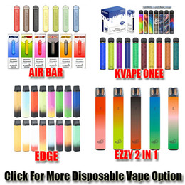 dispositivos de borde al por mayor-Puff Bar Plus Bar Air Bar Lux Kvape Edge FOG MAX PRO XXL Interruptor Puffs Puffs Dispositivo de lápiz de vape Vape Kit relleno pre lleno