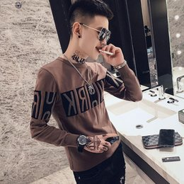 shirt youth 2021 - Autumn and winter slim and thickened warm men's sweater personalized trend knitting bottoming Shirt Youth versatile