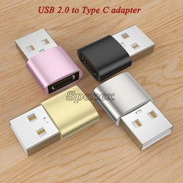 Wholesale cell phone usb otg resale online - Short Metal Adapter USB Male to Type C Female Cell Phone Accessories Portable OTG Connectors Converters Customized Logo Accepted
