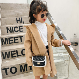 girl stylish bag 2021 - Free DHL INS PU Quality Kids Girls Purse Handbag Solid Colors Mother And Me Stylish Children School One-shoulder Bags