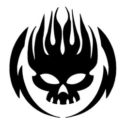 skull car accessories Australia - 12.8*13.3CM Classic Flame Skull Car Decorative Stickers Motorcycle Automobile Glass Sticker Decal Accessories C4-0153