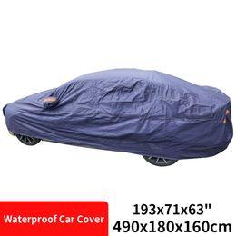 "Universal Anti-scratch Outdoor Indoor Protable Waterproof Sun Rain Resistant All Weather Full Car Cover 193""x71""x63"""