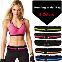 anti theft waist bag 2021 - Sports Bag Running Waist Bag Pocket Jogging Portable Waterproof Cycling Bum Bag Outdoor Phone anti-theft Pack Belt Bags