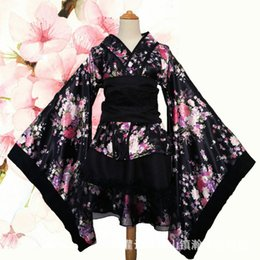 japanese kimono women cosplay NZ - Cosplay anime Japanese kimono Maid costume Lolita Princess paradise House Dance Dress 1695