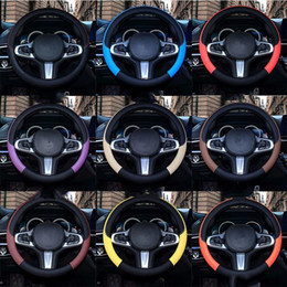 Car Steering Wheel Cover Handle Covers Cars Interior Decoration Leather Protective Supplies All Seasons DHL Free Freight on Sale