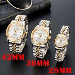 Venta al por mayor de OROLOGIO DI LUSSO MENS MENS AUTOMÁTICO Relojes mecánicos de oro Vestido de mujeres de acero inoxidable completo zafiro impermeable parejas luminosas luminosas