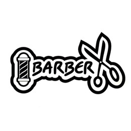 comprar motocicletas al por mayor-15 cm cm Funny Barber Shop Salon Bigache Corte de pelo Vinyl Motorcycle Car Sticker C22