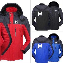 M-5XL Mens Designer Winter Coat HH Windbreaker Warm Fleece Lined Jacket Brands Hooded Softshell Waterproof Outdoor Zipper Outwear E111603 on Sale