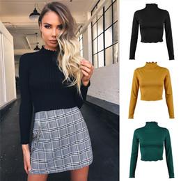 Опт Модный бутик обрезанный свитер женщин женские ребра вязаные урожая пуловер туго Bodycon блузки хип-хоп бар клуб вечеринки топы ткани LY120702