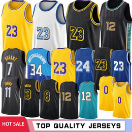 Wholesale black xxl hot men resale online - Ja Morant Los Angeles Basketball Jerseys Anthony Davis Kyle Kuzma Stock Retro Mesh Kevin Kyrie Durant Hot Irving