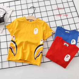 Wholesale bap shorts for sale - Group buy Spring Autumn New Bap Tide Brand Clothing Men s and Women s Treasure Short Sleeve T shirt Cotton Round Neck Children s