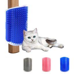 Cat Self Groomer Wall Corner Massage Comb Hair Removal Grooming Brush Tool For Short Long Fur Kitten Puppy JK2012XB on Sale