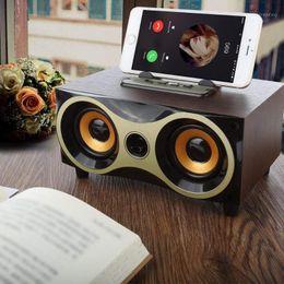 Drahtloser Holz Bluetooth-Lautsprecher High Bass Subwoofer Home Theatre Sound System Lautsprecher Aux FM MP3 Music Boombox für TV PC1 im Angebot