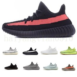 Kanye West V2 Runner Shoes ASRIE Cinder Tail Light Lightweight High Quality Linen Yecheil Cream Reflective Men Women Sneakers size36-45