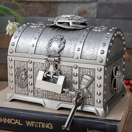 beetle jewelry 2021 - 2 Layers Egyptian Style Beetle Vintage Ruby Jewelry Box with Lock Metal Home Decoration Storage Box Girlfriend Female Gi