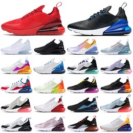 270 running shoes triple black white red women men Chaussures Bred Be True BARELY ROSE 270s mens trainers Outdoor Sport Sneakers on Sale