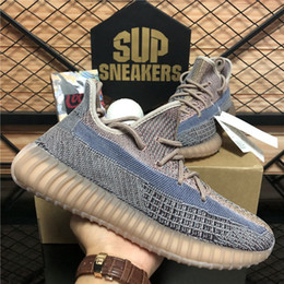 Wholesale TOP Quality New Kanye West Men Women Running Shoes Zebra Cinder Tail Light Reflective Israfil Linen Mens Trainers Sneakers
