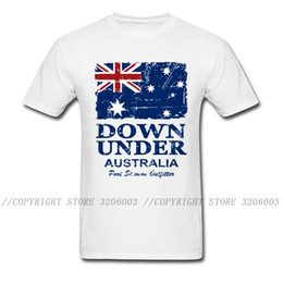 tee shirts art Canada - Vintage Australia Flag T-shirt Men White T Shirt Summer Tshirt Cotton Tees Short Sleeve Tops Art Designer Clothing O-neck 1117
