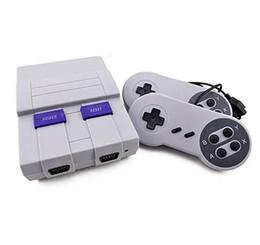 Vente en gros Jeu Classique TV Vidéo Console de poche Console de divertissement Dernière console de divertissement Vidéo Handheld pour SNES et Jeux NES Consoles avec paquet de détail