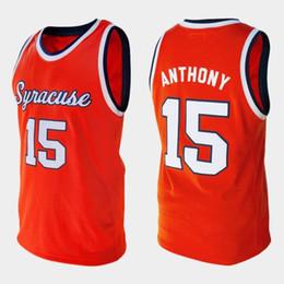 Syracuse Orange College Carmelo Anthony retro #15 Retro Basketball Jersey Men's Stitched Custom Number Name Jerseys