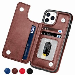 iphone se flip cases NZ - Retro PU Flip Leather Case For iPhone 12 Mini 11 Pro Max XS Multi Card Holder Phone Cases For iPhone X 6 6s 7 8 Plus SE 2 Cover